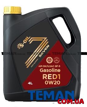 Купить Синтетическое моторное масло SEVEN RED1 0W20, 4лS-OIL SEVENRED10W204