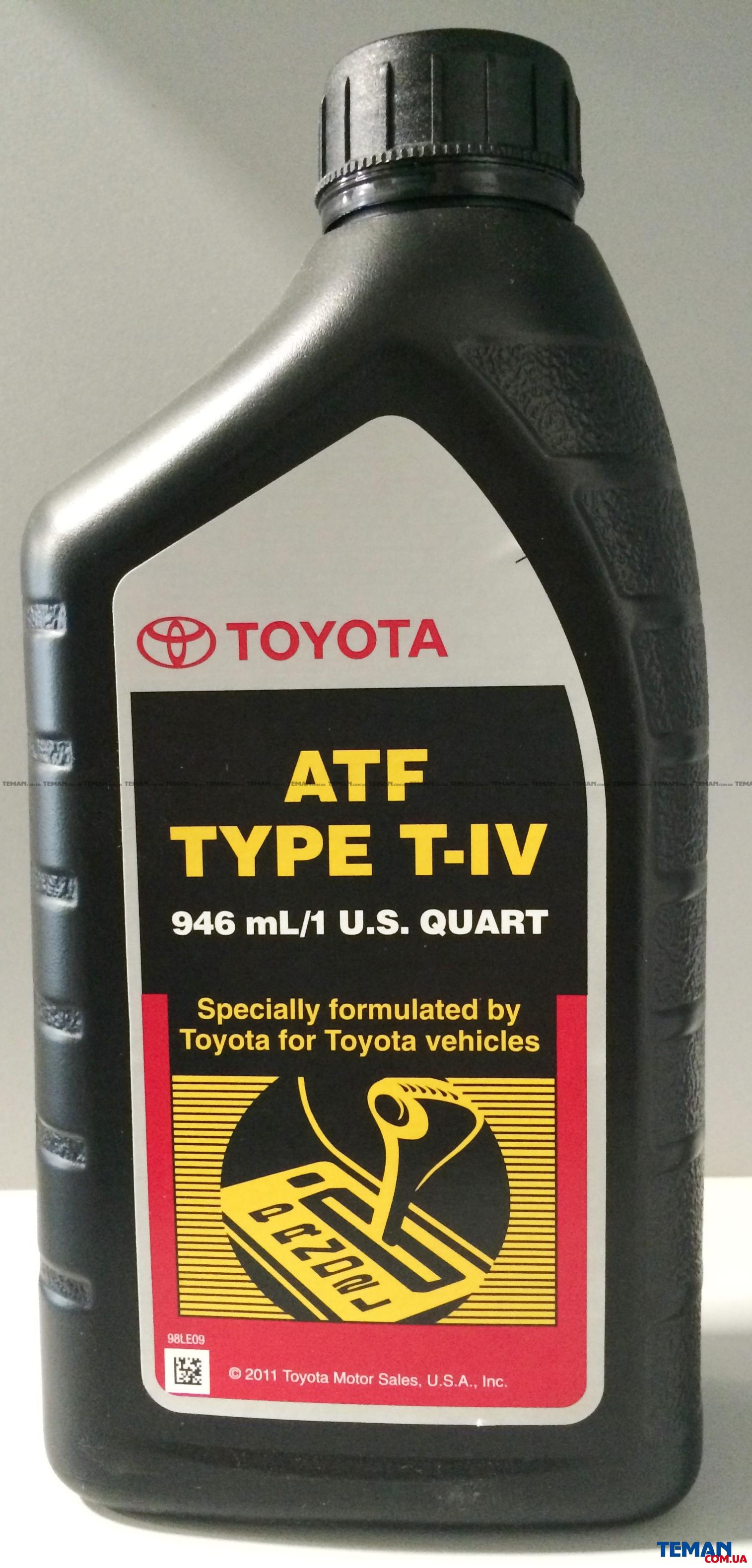 Масло трансмиссионное(ATF T-IV), 0.946L