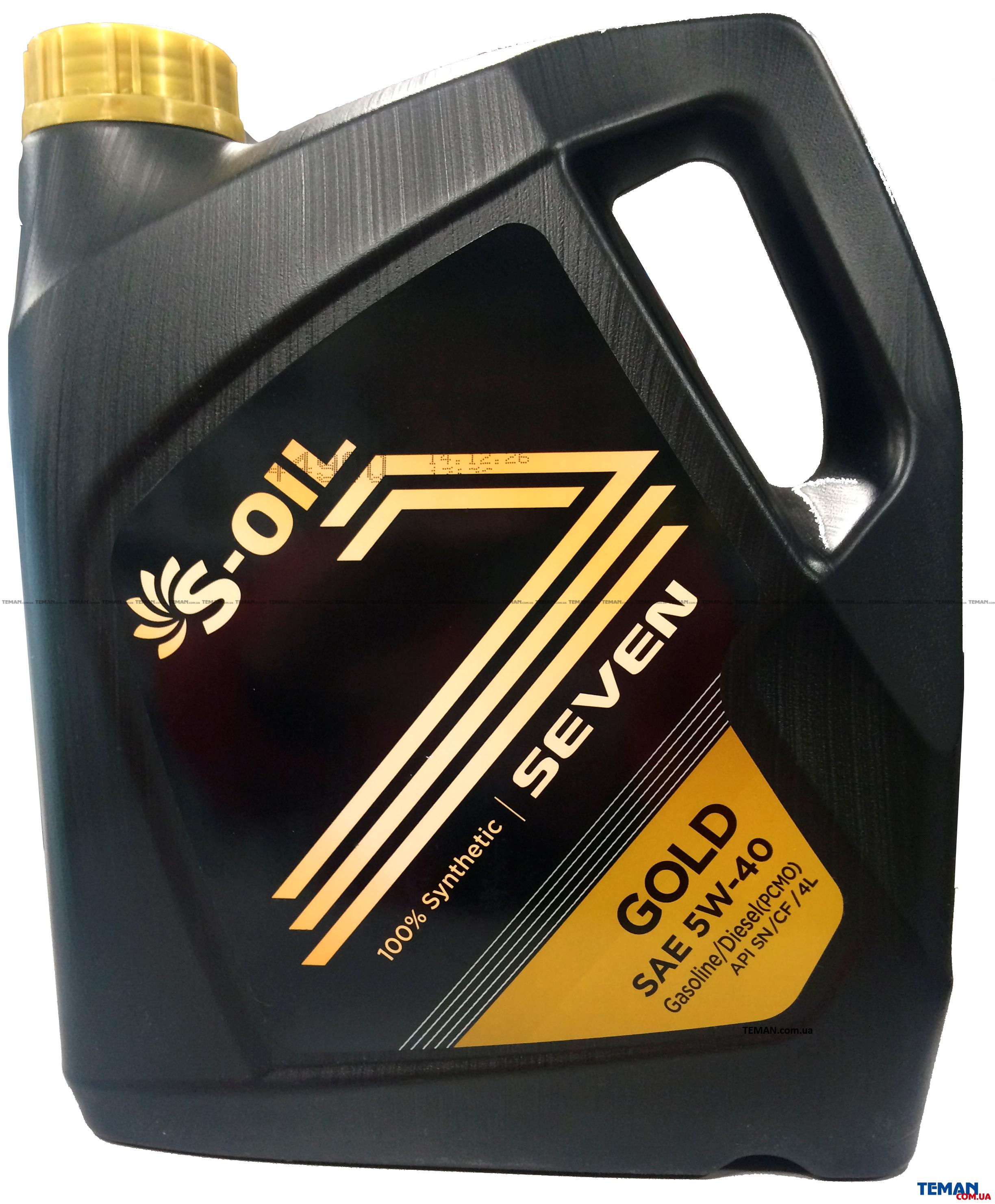Синтетическое моторное масло SEVEN GOLD 5W40, 4 л
