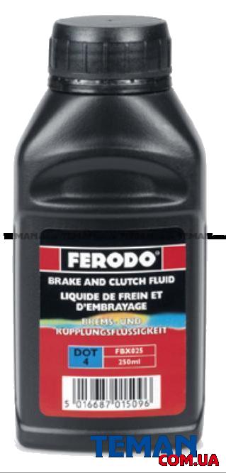 Купить Рідина гальмівна DOT 4 0.25лFERODO FBX025