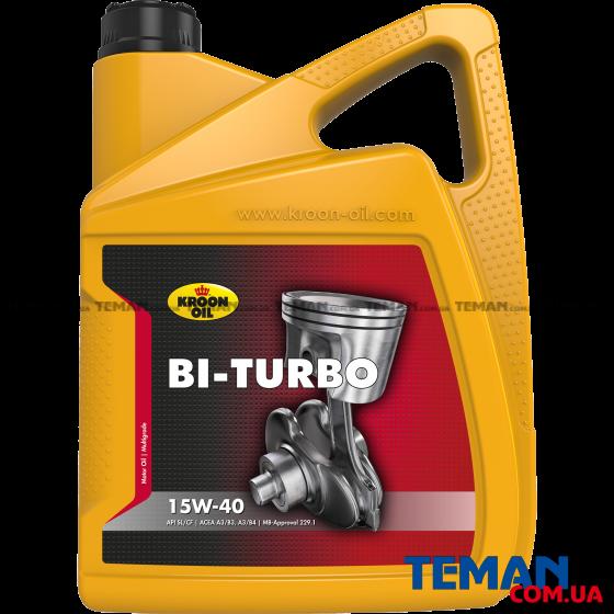 Минеральное моторное масло BI-TURBO 15W-40, 5л