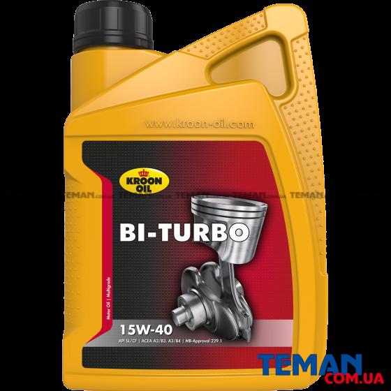 Минеральное моторное масло Bi-Turbo 15W-40, 1л