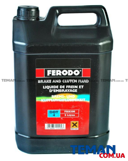 Тормозная жидкость 5л (DOT 4) Ferodo