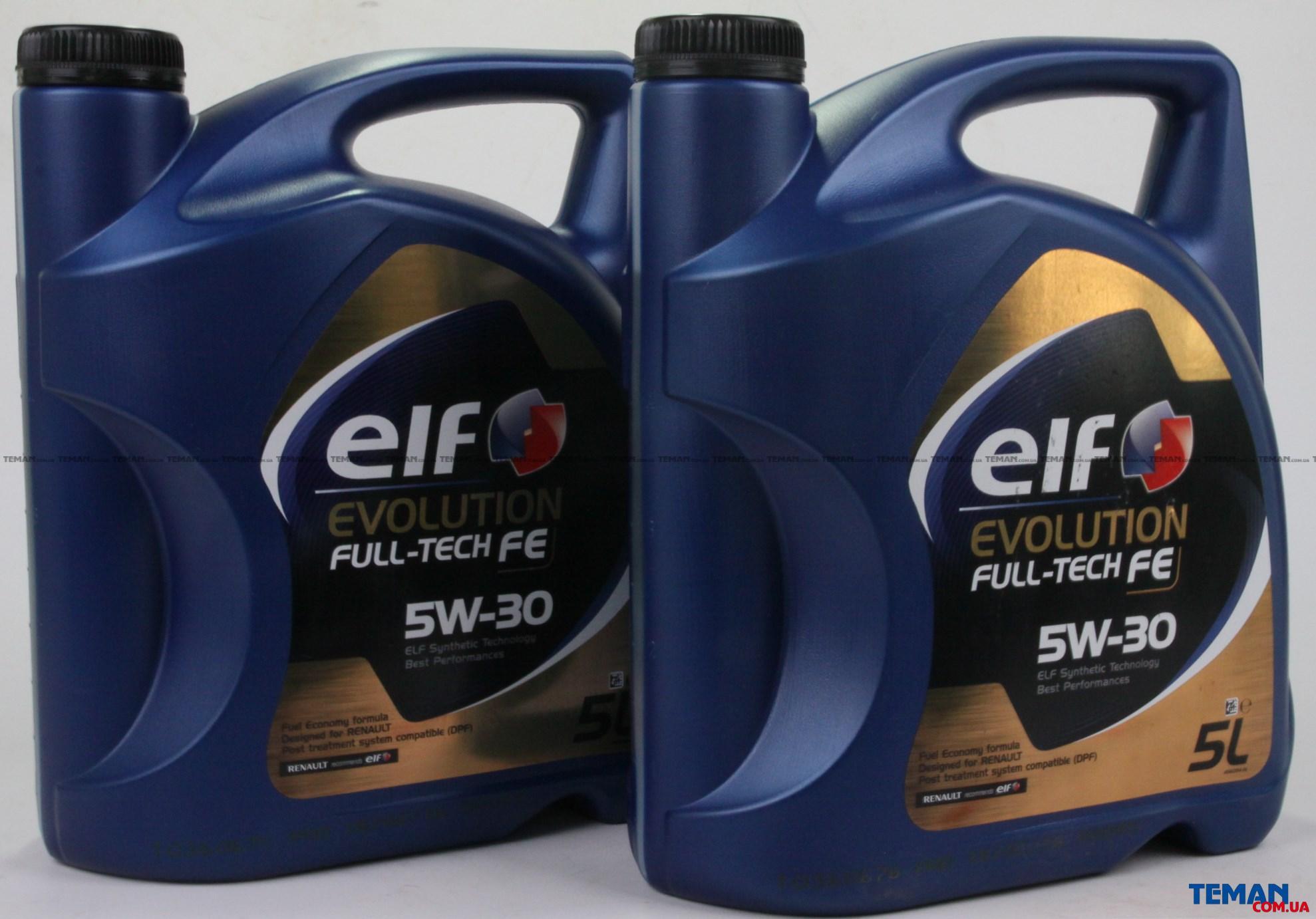 Масло моторное синтетическое Evolution Full-Tech FE 5W-30, 5 л