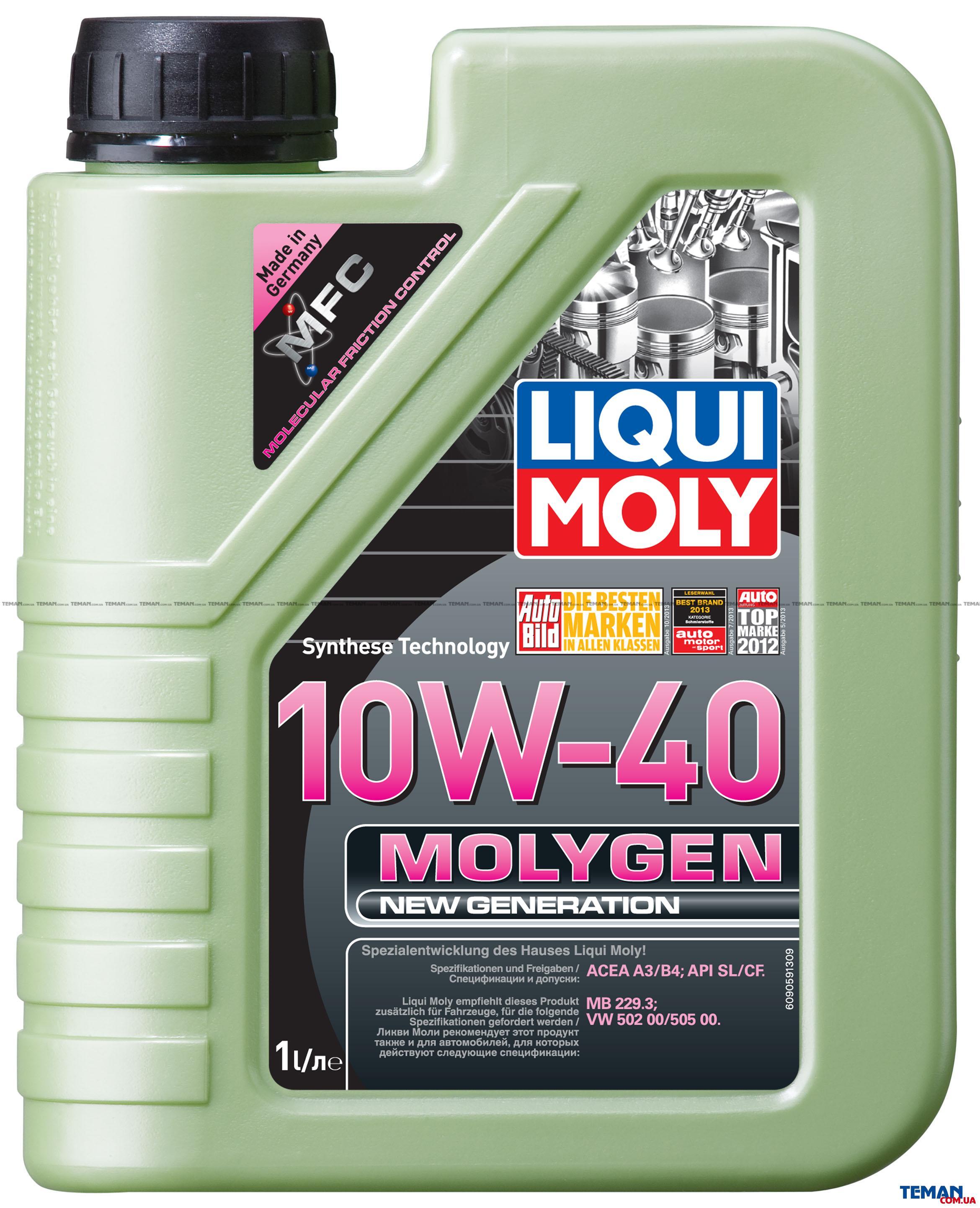 НС-синтетическое моторное масло Molygen New Generation 10W-40
