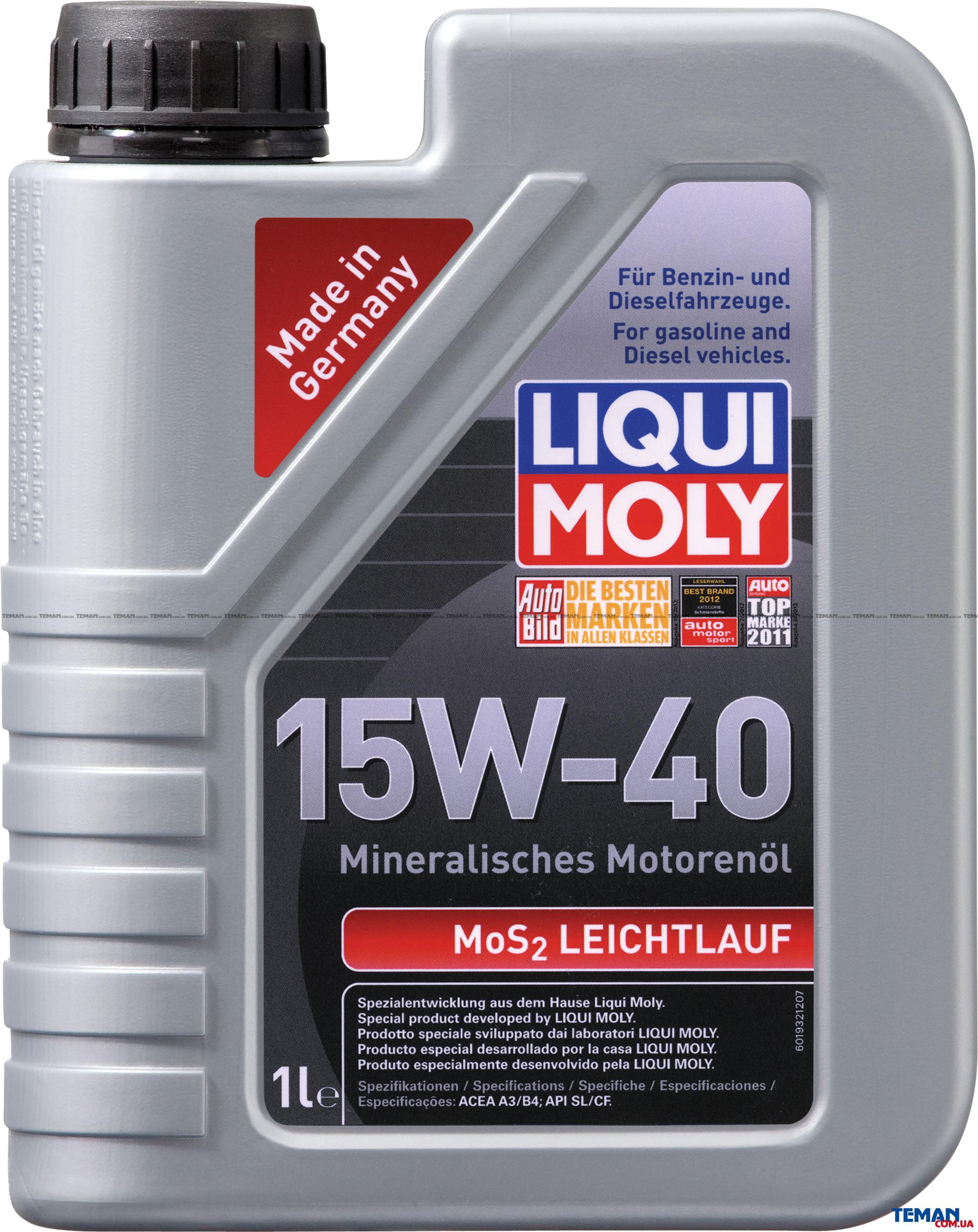 Минеральное моторное масло MoS2 Leichtlauf 15W-40