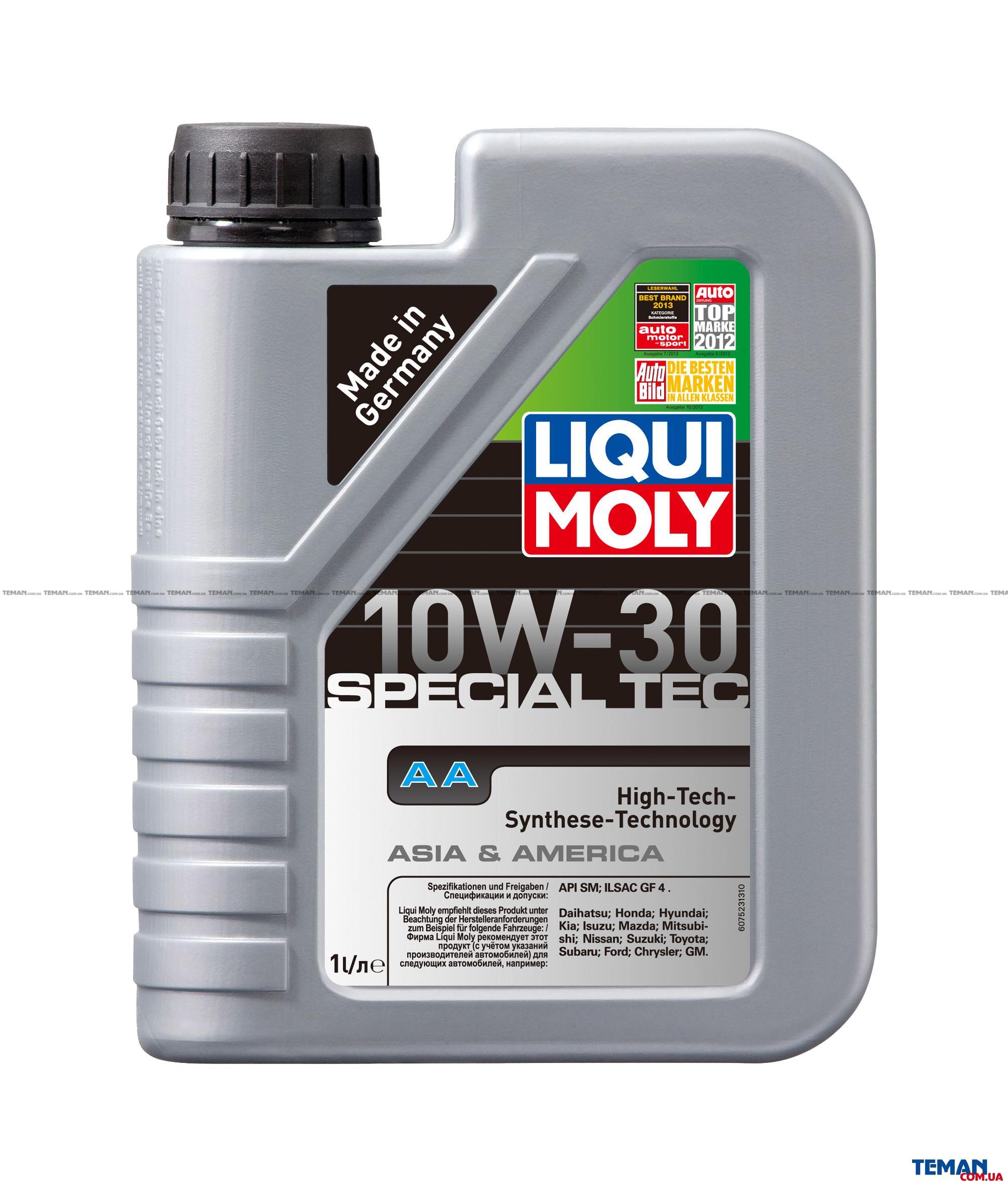 НС-синтетическое моторное масло Special Tec AA 10W-30