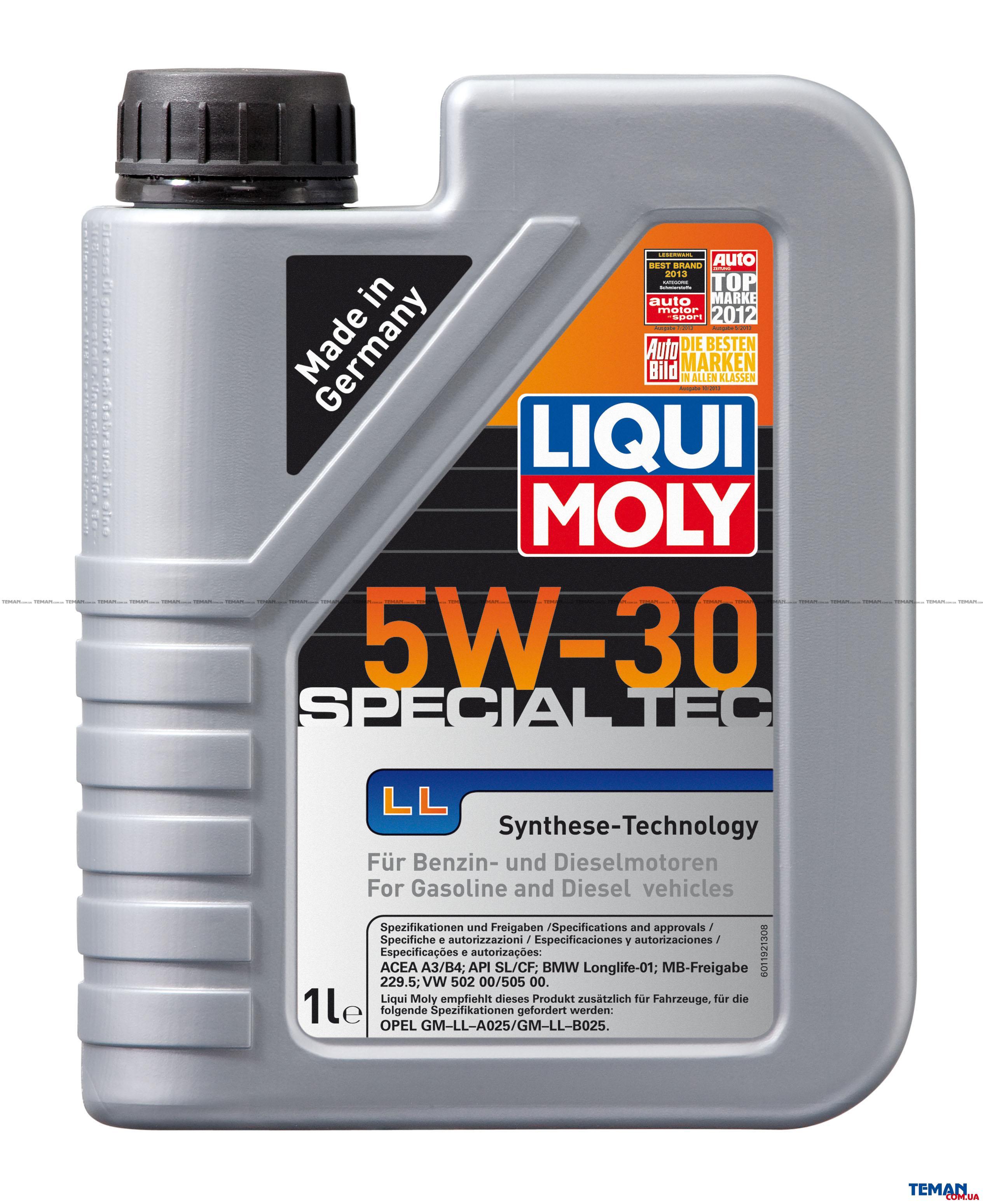 НС-синтетическое моторное масло Special Tec LL 5W-30