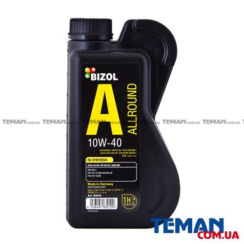 Полусинтетическое моторное масло - BIZOL Allround 10W40 1л