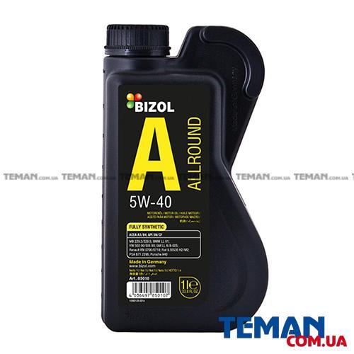 Синтетическое моторное масло - BIZOL Allround 5W-40 1л