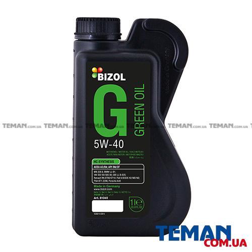 Синтетическое моторное масло - BIZOL Green Oil 5W-40 1л