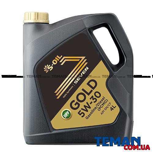 Синтетическое  моторное масло SEVEN GOLD 5W30, 4 л