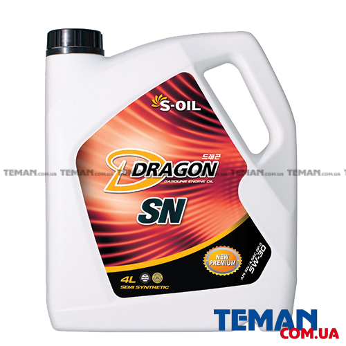Купить Синтетическое моторное масло DRAGON SN 5W30, 4 лS-OIL DRAGONSN5W304