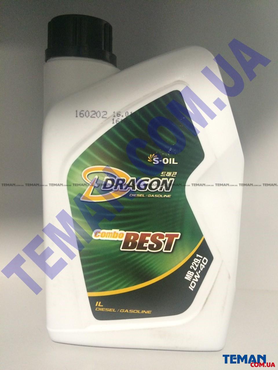 Полусинтетическое моторное масло DRAGON COMBO  BEST 10W40, 1 л