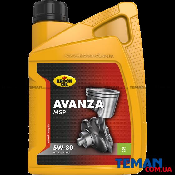 Синтетическое моторное масло AVANZA MSP 5W-30, 1л