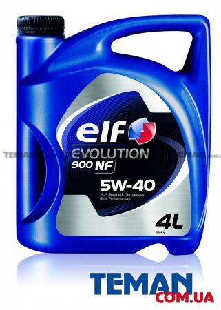Масло моторное синтетическое Evolution 900 NF 5W-40, 4 л