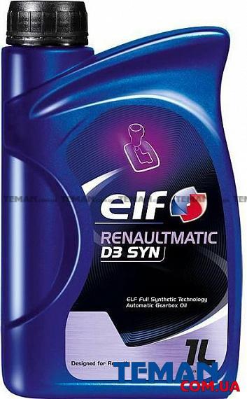 Масло трансмиссионное синтетическое RENAULTMATIC D3 SYN, 1 л