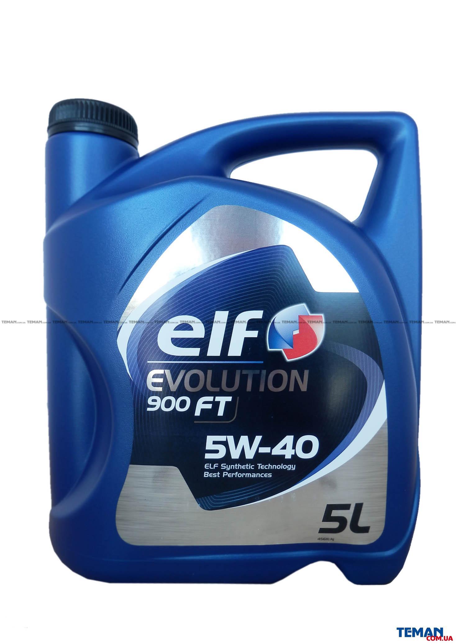 Масло моторное синтетическое Evolution 900 FT 5W-40, 5 л