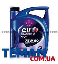 Масло трансмиссионное синтетическое TRANSELF NFJ 75W-80, 5 л