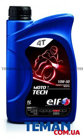 Масло моторное синтетическое Moto 4 Tech 10W-50, 1 л