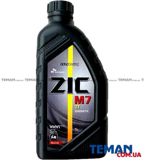 Масло моторное синтетическое ZIC M7 2T, 1 л