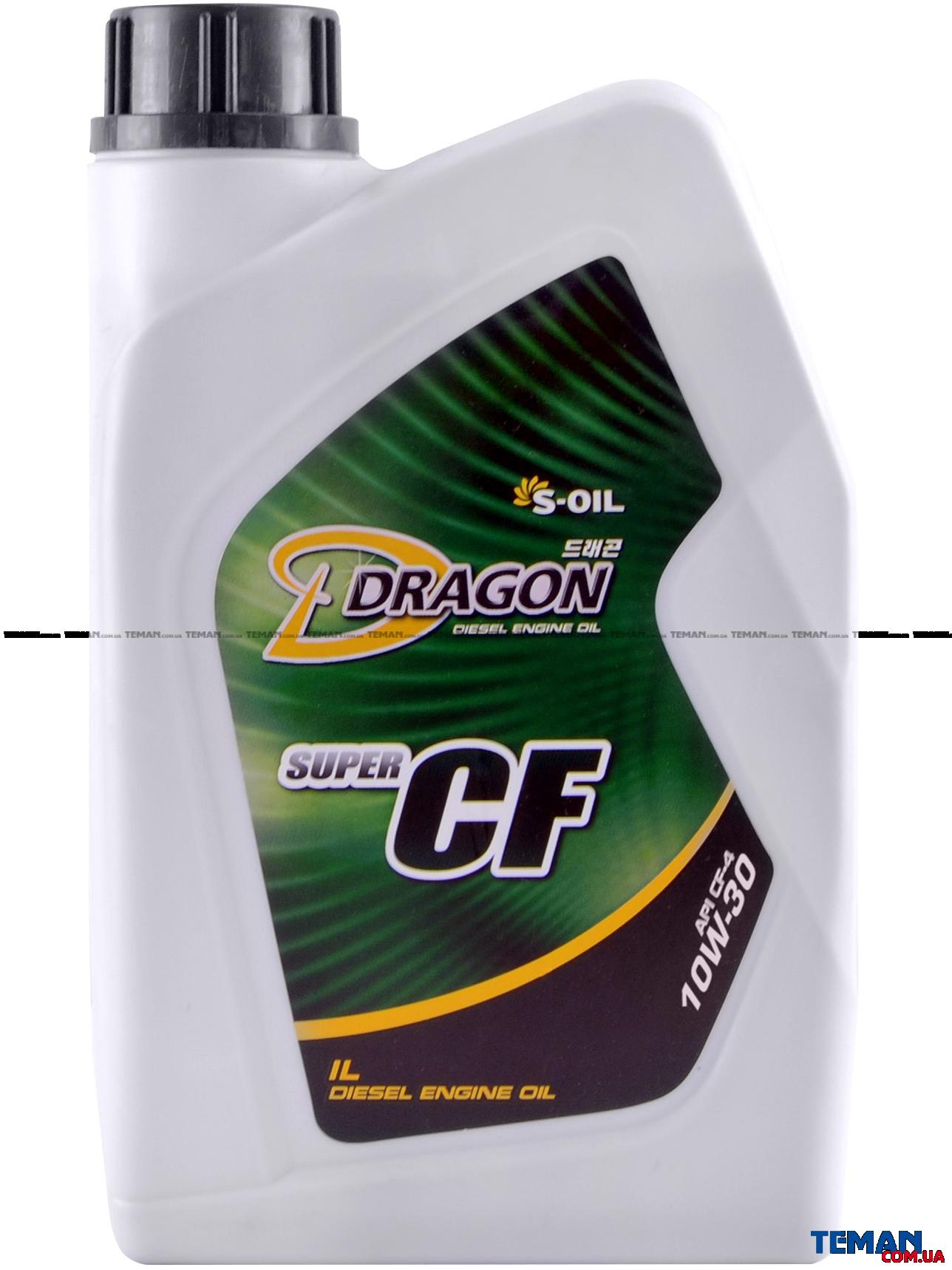 Полусинтетическое моторное масло DRAGON CF-4/SG 10W30,1 л