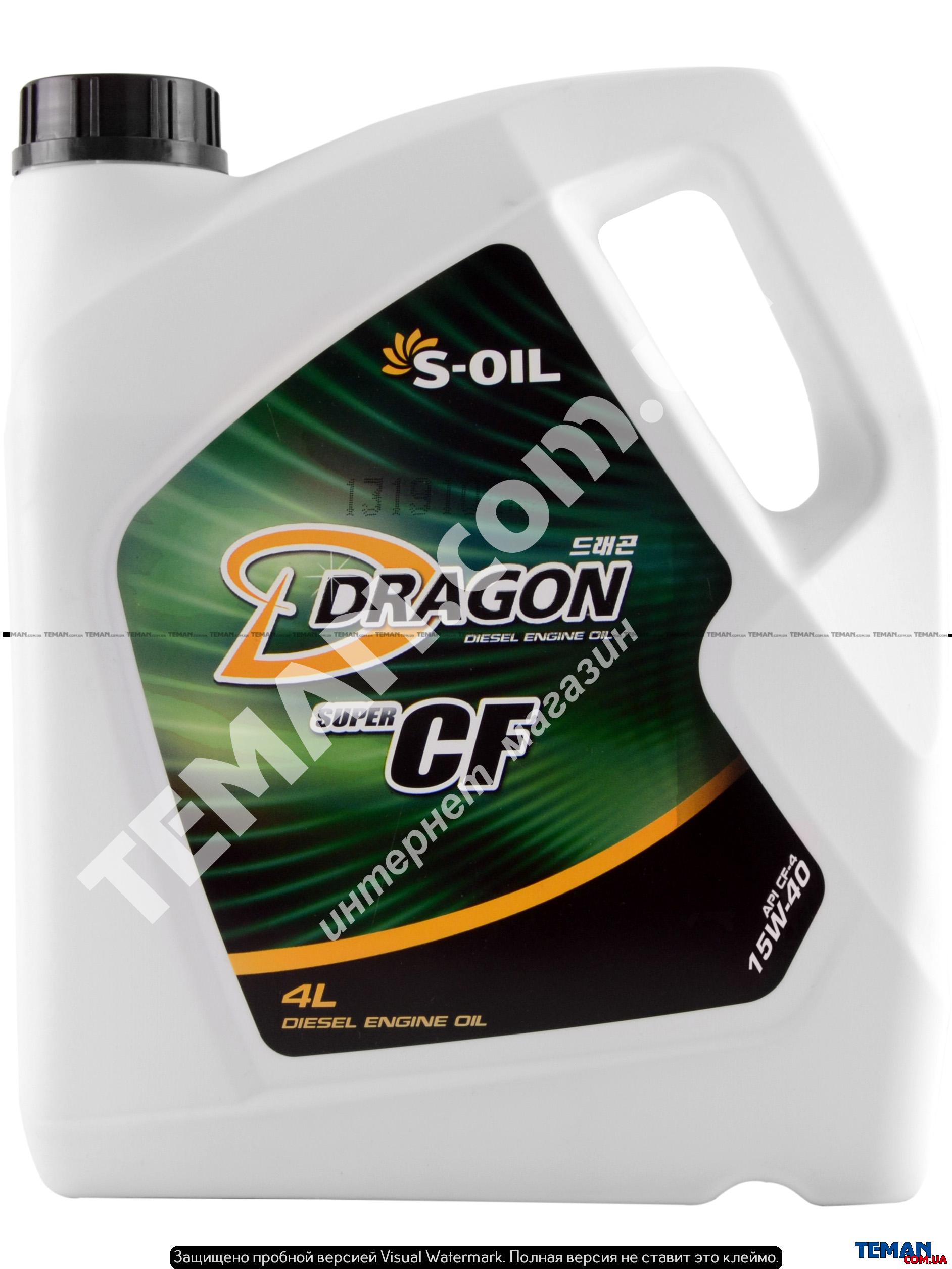 Полусинтетическое моторное масло DRAGON CF-4/SG 15W40, 4 л