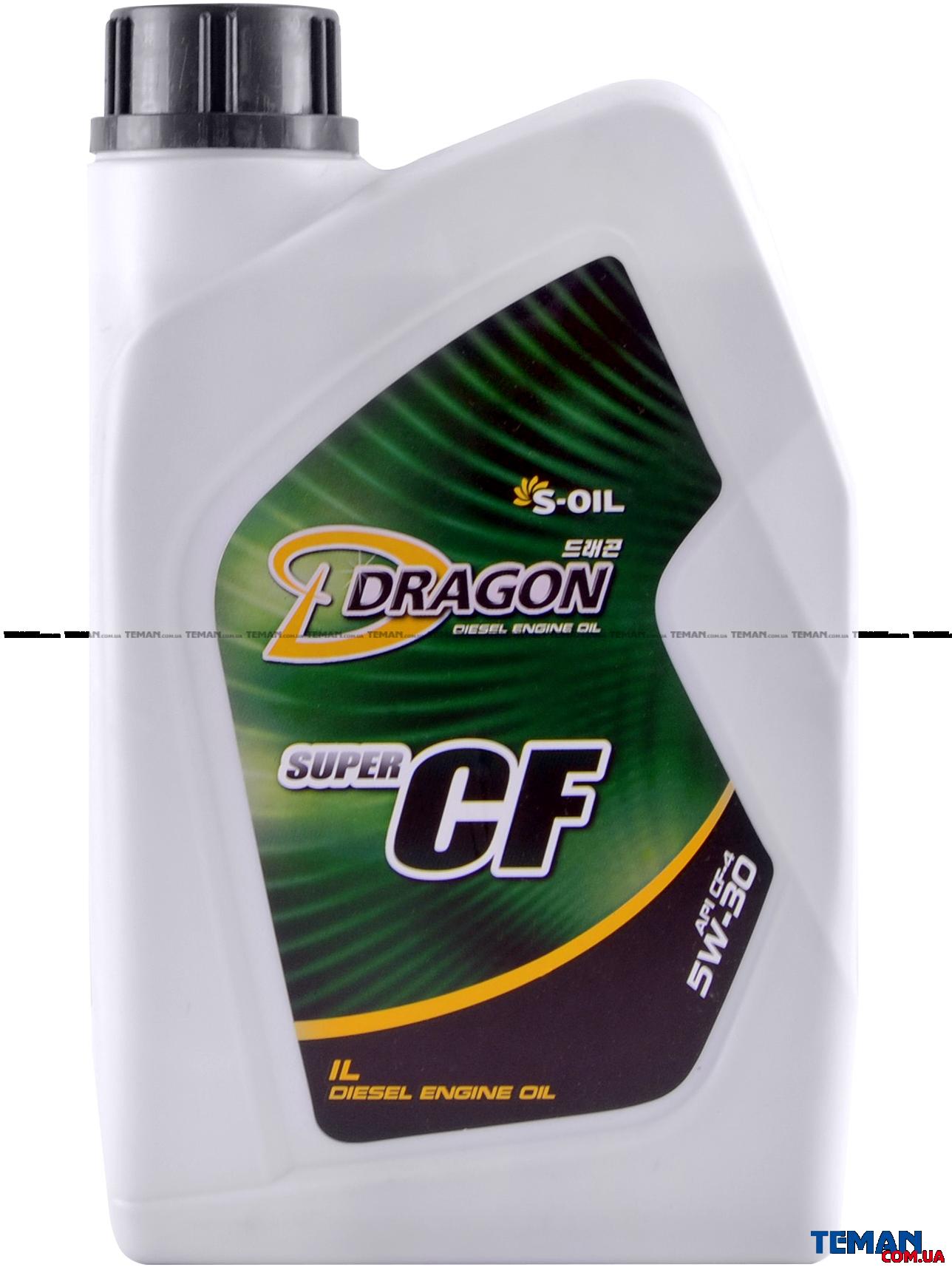 Полусинтетическое моторное масло DRAGON CF-4/SG 5W30, 1 л