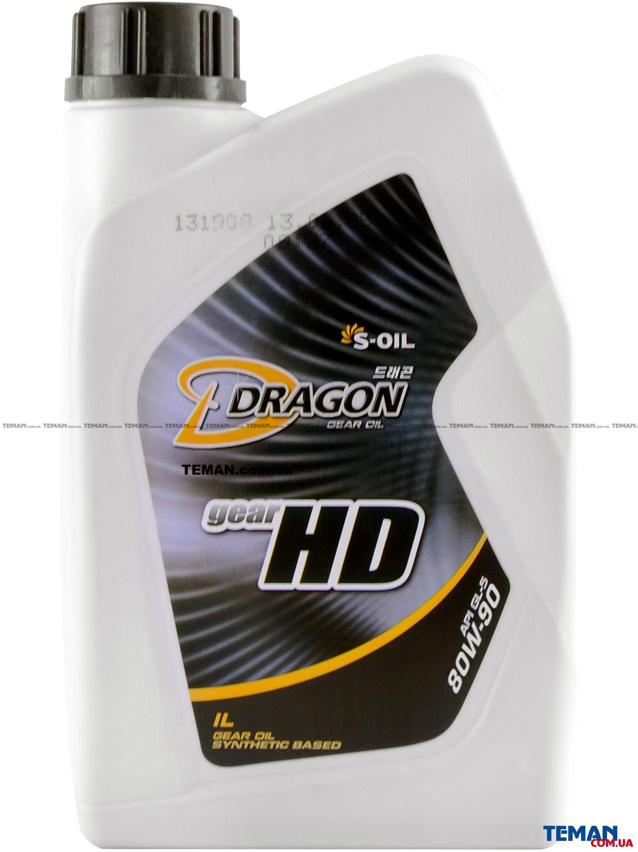 Полусинтетическое трансмиссионное масло DRAGON GEAR HD 75W90, 1 л