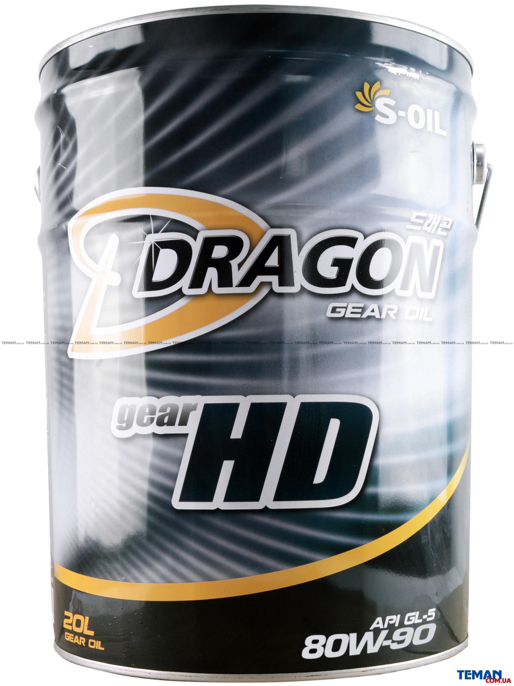Трансмиссионное масло DRAGON GEAR HD 80W90, 20 л