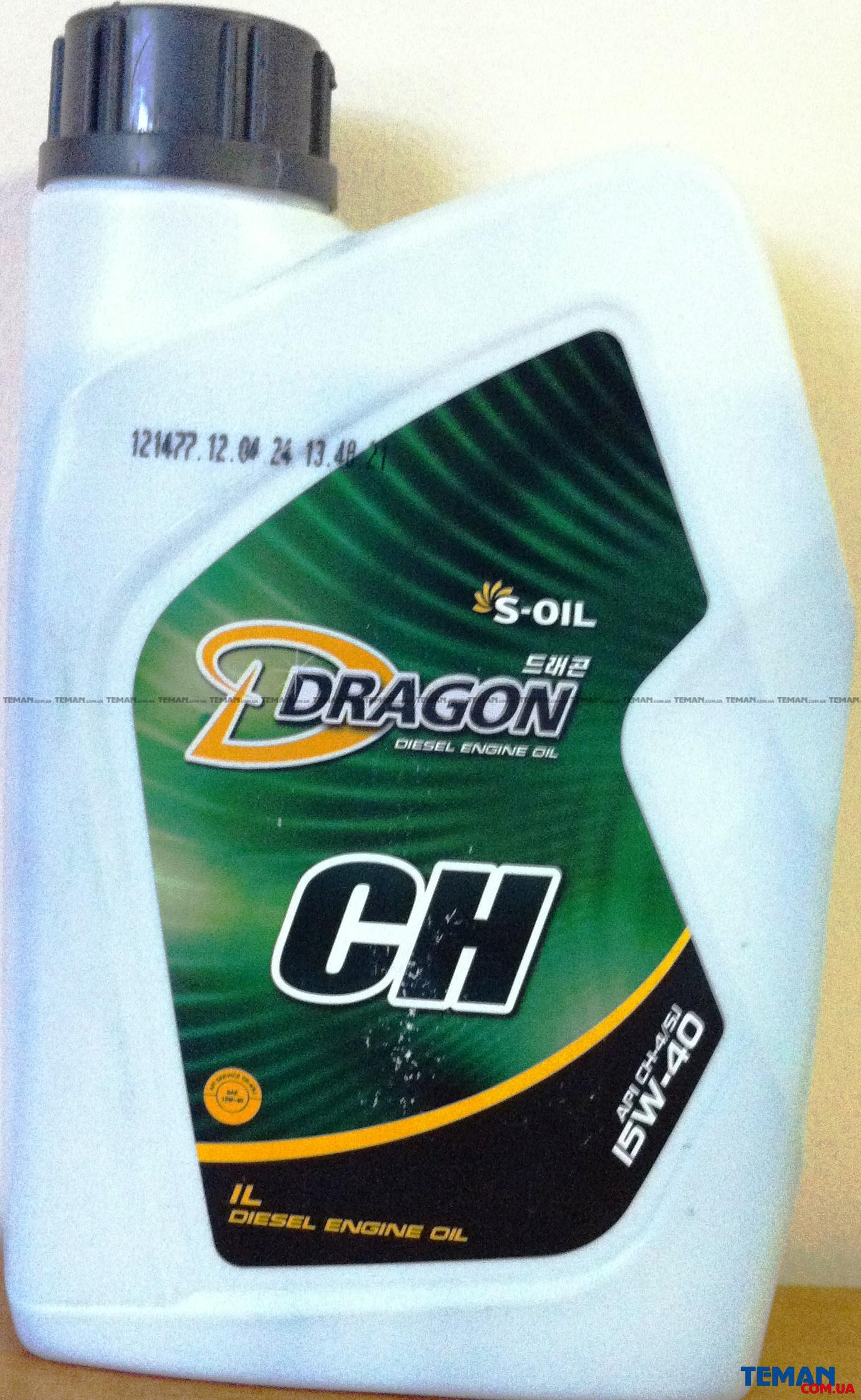 Полусинтетическое моторное масло DRAGON CH-4/SJ 15W40, 1 л
