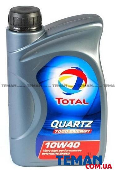 Полусинтетическое моторное масло QUARTZ 7000 ENERGY 10W40, 1л