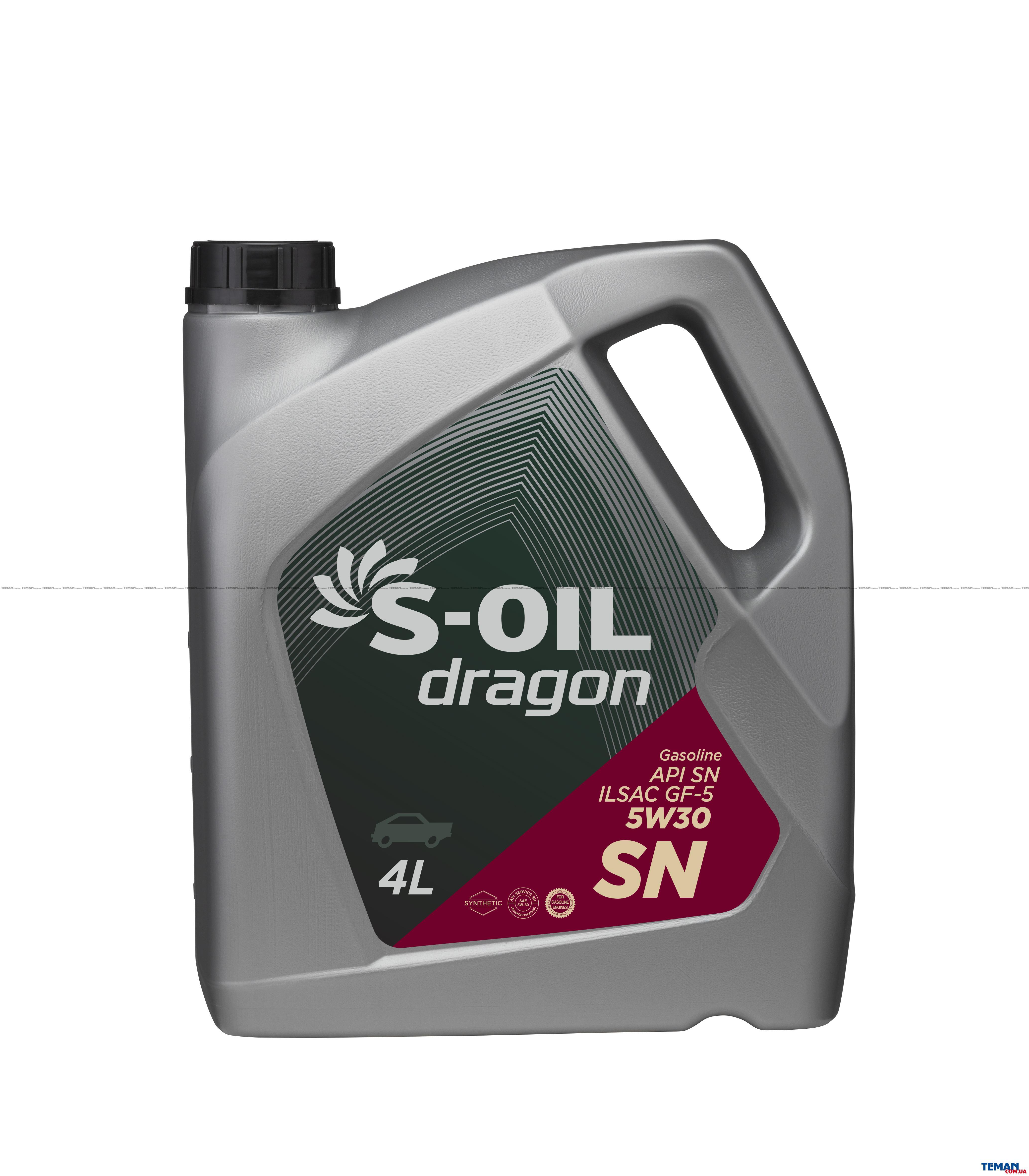 Синтетическое моторное масло DRAGON SN 5W30, 4 л