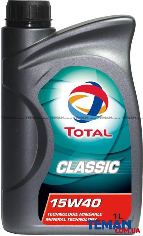 Минеральное моторное масло CLASSIC 15W40, 1л