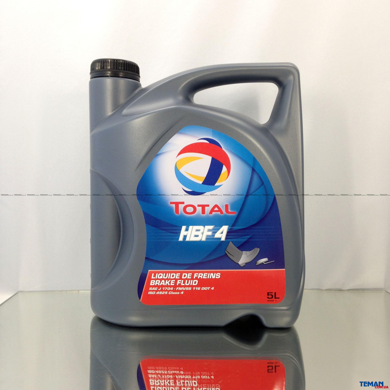 Синтетическая тормозная жидкость TOTAL HBF 4, 5л