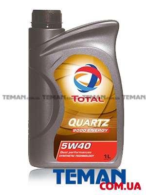 Синтетическое моторное масло QUARTZ 9000 ENERGY 5W-40, 1л