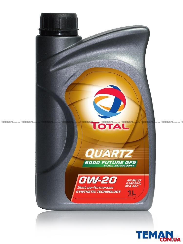 Синтетическое моторное масло TOTAL QUARTZ 9000 FUTURE GF-5 0W-20, 1л