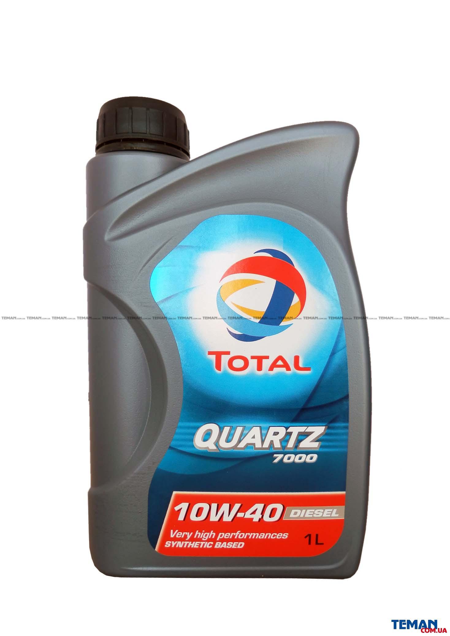 Синтетическое моторное масло TOTAL QUARTZ 7000 DIESEL 10W-40,1л