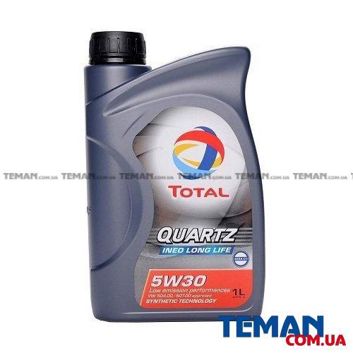 Синтетическое моторное масло QUARTZ INEO LONG LIFE 5W-30, 1л