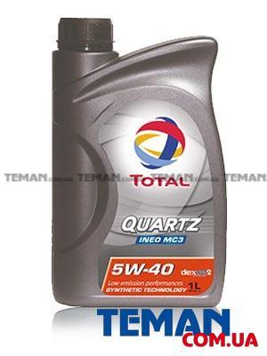 Синтетическое моторное масло TOTAL QUARTZ INEO MC3 5W-40, 1л