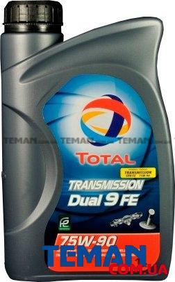Синтетическое трансмиссионное масло TOTAL TRANSMISSION DUAL 9 FE 75W-90, 1л