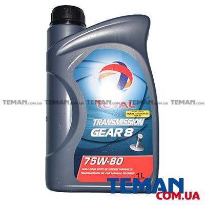 Трансмиссионное масло TRANSMISSION GEAR 8 75W80, 1л