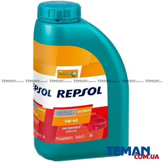 Синтетическое моторное масло REPSOL AUTO GAS 5W40, 1л