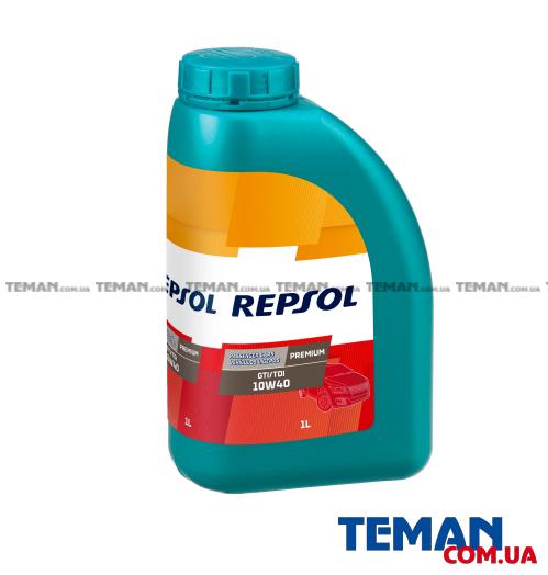 Полусинтетическое моторное масло REPSOL PREMIUM GTI/TDI 10W40, 1л