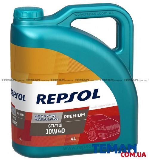 Полусинтетическое моторное масло REPSOL PREMIUM GTI/TDI 10W40, 4л