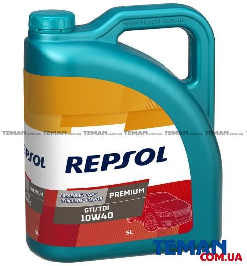 Полусинтетическое моторное масло REPSOL PREMIUM GTI/TDI 10W40, 5л