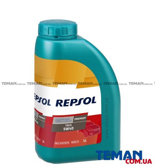 Синтетическое моторное масло REPSOL PREMIUM TECH 5W40, 1л