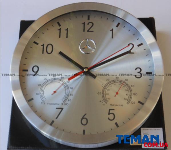 Купить Часы настенные Mercedes-Benz Wall Clock Silver 2014 (+гигрометр и термометр)MERCEDES BENZ B67870476