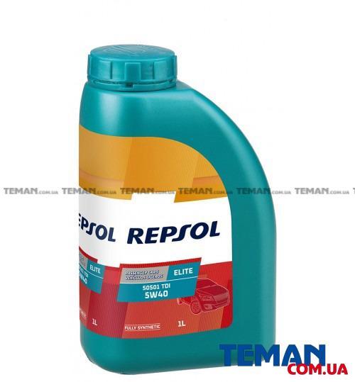 Синтетическое моторное масло REPSOL ELITE 505.01 TDI 5W40, 1л