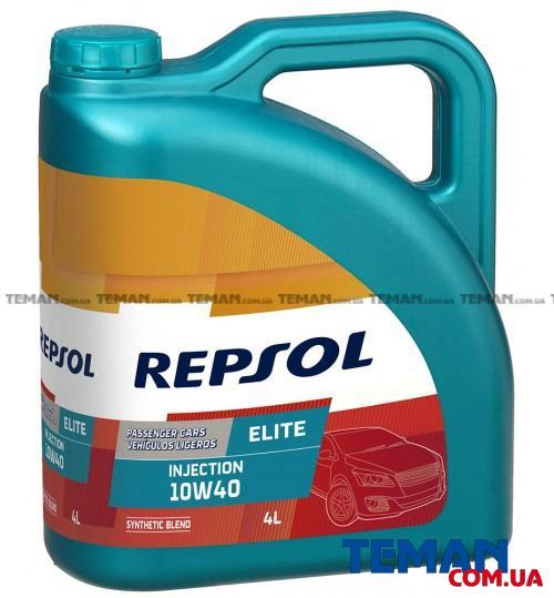 Полусинтетическое моторное масло REPSOL ELITE INJECTION 10W40, 4л